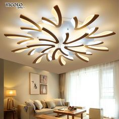 Self-Conscious Modern Led Crystal Chandelier Light Round Circle Flush Mounted Chandeliers Lamp Living Room Lustre Luminaria With Remote Control Lights & Lighting Ceiling Lights & Fans