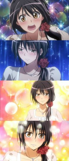 """Kaichou wa Maid-sama - Misaki in her """"Juliet"""" dress The art for this anime is really good!"""