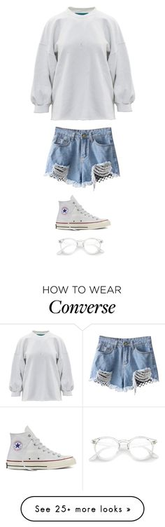"""Untitled #4170"" by twerkinonmaz on Polyvore featuring Converse"