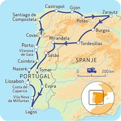 Camperroute door Spanje en Portugal - Van Baskenland tot de Algarve   NKC - Travel Route, Travel List, Travel Goals, Places To Travel, Spain And Portugal, Portugal Travel, Spain Travel, Algarve, Astuces Camping-car