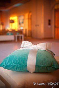 tiffany's style ring bearer pillow!