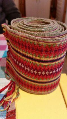 Tabletwoven belt for belt dress from Telemark, Norway.