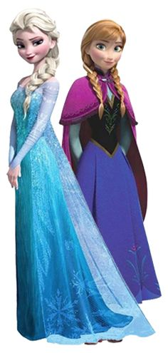 Frozen: Ana and Elsa Clip Art.