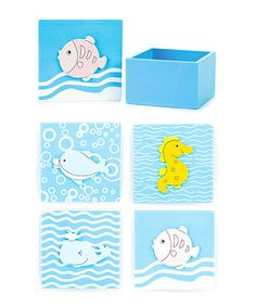 Take a look at this Ocean Bitty Box Set by Bead Bazaar on #zulily today!