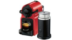 The #KrupsInissia Ruby Red #CoffeeMachine is compact, lightweight and features an ergonomic handle.