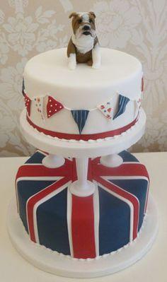 British themed novelty cake