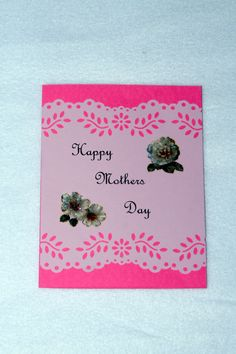 Mother's Day Card, Happy Mother's Day, Mothers Day Card, Greeting Card by DandHspecialties on Etsy $4.00