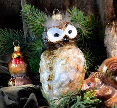 christmas ornaments glass ball ozdoby choinkowe bombki choinkowe sowa owl