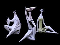 Török János - modern figura Ceramic Sculpture Figurative, Ceramic Figures, Sketchbook Ideas, Mid Century Modern Design, Retro Art, Aba, Clay Art, Acrylics, Pop Art
