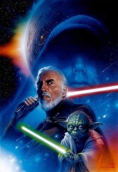 Count Dooku, Yoda, & Darth Sidious (Background)
