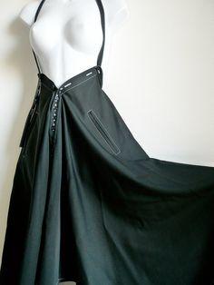 De Y Yohji Yamamoto noir cape ou jupe avec par theStitchkeeper