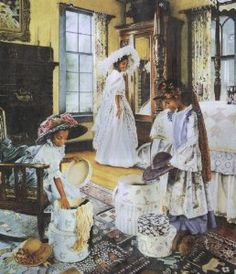 Girls playing Dress up - Melinda Byers