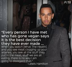 Every person I have ever met who has gone vegan says it is the best decision they have ever made ... ~ courtesy Lewis Hamilton #vegan
