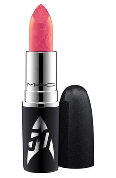 Obsessing over the new Star Trek collection by MAC. This stunning lip color will create the perfect pink pout.