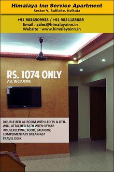 Himalaya Inn Service Apartment - Sector V, Saltlake, Kolkata. For special offers visit http://www.himalayainn.in #budgethotel #bedandbreakfast