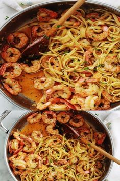 Garlic and parsley shrimp pasta, quick recipe - Trend Cocktail Food Ideas 2019 Cocktail Party Food, Cocktail Recipes, Quick Recipes, Healthy Recipes, Garlic Pasta, Shrimp Pasta, Food Trends, Food To Make