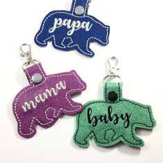 Hey Mama Bears!  These tags are a perfect way to set your stuff apart!  Get a tag made just for you, or your Papa Bear, or your Baby Bears in your favorite colors today!!