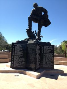 The Arizona Peace Officers Memorial located at Wesley Bolin Park in Downtown Phoenix.
