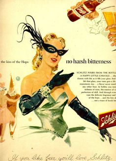 Classy 1950's beer ad