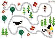 Le petit chaperon rouge : trouver le bon chemin Aide le chaperon à trouver le bon chemin, elle ne doit pas rencontrer le loup et elle doit ramasser des fleurs pour sa grand-mère. Version fic…