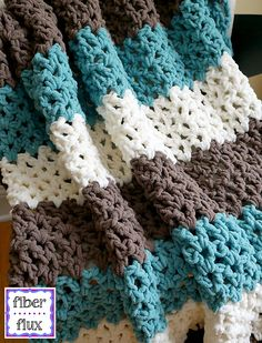 The Family Room Throw is a super comfy throw that is lofty, lacy and crocheted…