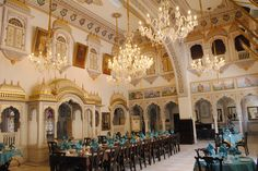 Beautifully #painted walls and ceiling of Alsisar Mahal in #Jhunjhunu, #Rajasthan