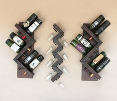 Wall Wine Glass Rack-Wood Wine Glasses Rack by AdliteCreations