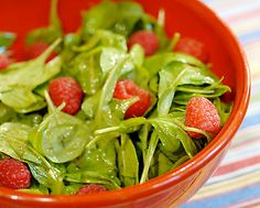 Finding gluten free salad is easy (arugula and raspberries don't contain gluten).  Finding gluten free salad dressing is another story altogether.