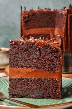 Chocolate Cake Recipe No Milk, Chocolate Cake From Scratch, Best Vegan Chocolate, Chocolate Flavors, Eggless Desserts, Vegan Dessert Recipes, Vegan Sweets, Dairy Recipes, Healthy Desserts