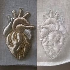 Anatomy Embroidery - sewing; textiles; creative embellishment; fashion design detail // Sub Marina