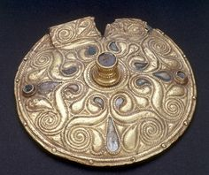 A highly ornate Celtic disc from the Latene Era in the early 4th Century BC, found in Auvers-sur-Oise and now in the Cabinet des Médailles in the Bibliothèque Nationale, Paris.    Photo: akg-images / Piero Baguzzi