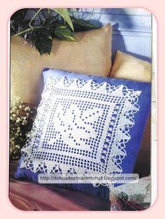 delicadezas en crochet gabriela cojines tejidos en ganchillo