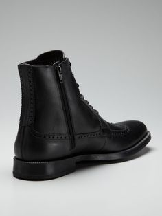 Love the zippers on this a.testoni BASIC Wingtip Ankle Boots -