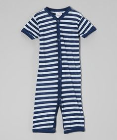 Look what I found on #zulily! Midnight Blue Stripe Playsuit by Luca Charles #zulilyfinds