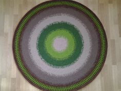 Large crochet round rug, 59'' (150 cm)/Crochet Rug/Rugs/Rug/Area Rugs/Floor Rugs/Large Rugs/Handmade Rug/Carpet/Wool Rug by AnuszkaDesign on Etsy
