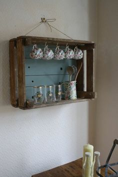 Smart & Creative Repurpose Ideas for Old Wooden Crates Uses For Wooden Crates, Crate Shelves, Key Organizer, Home Trends, Wine Rack, Diy Furniture, Liquor Cabinet, Repurposed, Shabby Chic