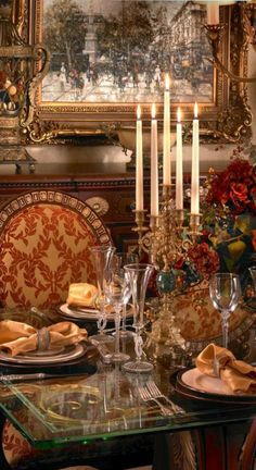 Luxury Homes, Luxury Interior Design: Luxury Interior Design In Rich Jewel Tones by Perla Lichi Tuscany Decor, Luxury Dining Tables, World Decor, Tuscan House, Tuscan Decorating, Tuscan Style, Luxury Interior Design, Interior Architecture, Decoration Table