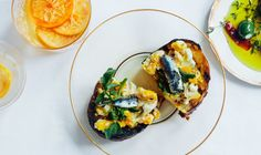 Crostini with Crushed Eggs and Salted Anchovies