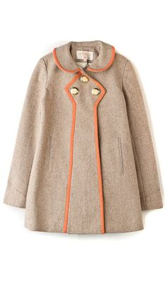 wool coat with leather trim. lauren moffatt.