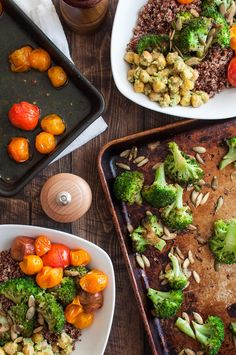 Spicy roasted broccoli for healthy Italian quinoa bowls Italian Broccoli, Quinoa Bowl, Pesto, Cravings, Bowls, Spicy, Roast, Beef, Healthy
