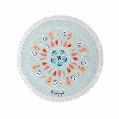 top3 by design - The Beach People - round towel seashells petite