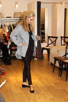 Cocaranti | Frame | Le Classic Pleat Shirt | Paige | June Zip Coated Jeans | Parka London | Agda Coat