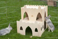 Rabbits at your ready! Maintain your stronghold! The Castle Keep has everything your rabbit needs. Hiding spaces and great vantage lookout points—a majestic keep perfect for the most noble of rabbits. Baby Hamster, Hamster House, Rabbit Hutch Indoor, Animals And Pets, Cute Animals, Bunny Cages, Bunny Rabbits, Bunny Room, Raising Rabbits
