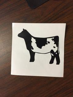 Show Cattle Shorthorn Heifer Vinyl Sticker by CarouselDesign