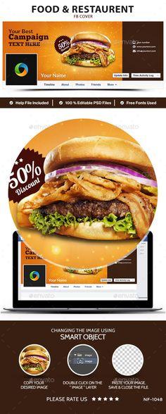Food & Restaurent Facebook Cover Template PSD. Download here: http://graphicriver.net/item/food-restaurent-facebook-cover/14830544?ref=ksioks