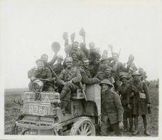 Canadians return from the Battle of Flers-Courcelette, September 1916