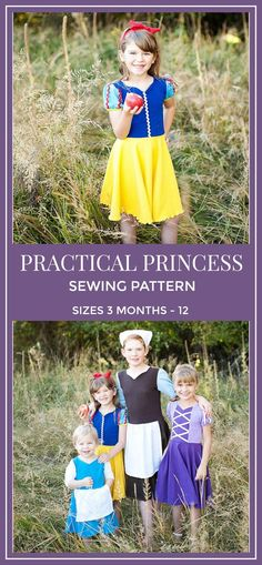 So many different options! I love every pattern that I have ordered from Peek a Boo Pattern Shop. Practical Princess PDF Knit Dress Sewing Pattern / Knit Dress Pattern / Girls Dress Sewing Pattern / Princess Dress Pattern / Princess PDF #sewing #sewingpattern #pattern #ad #modestfashion #diy #dress #princess