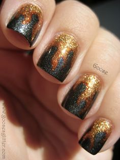 Hunger Games: girl on fire nails
