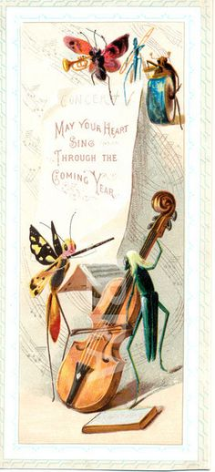 Victorian New Year's greeting card dated 1889.