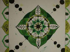 Mandala drawn by Jonsu Ziegler with Acryl